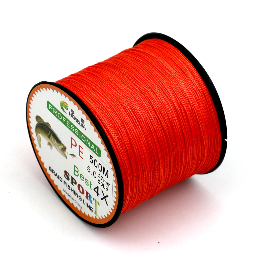 HENGJIA Brand Superpower 500m 15LB 80LB Braided Fishing Line PE ...