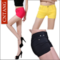 New 2016 Plus Size Shorts Summer Women Neon Casual Shorts Fashion Cute White Black Ladies Pencil Shorts Wholesale 12 Colors