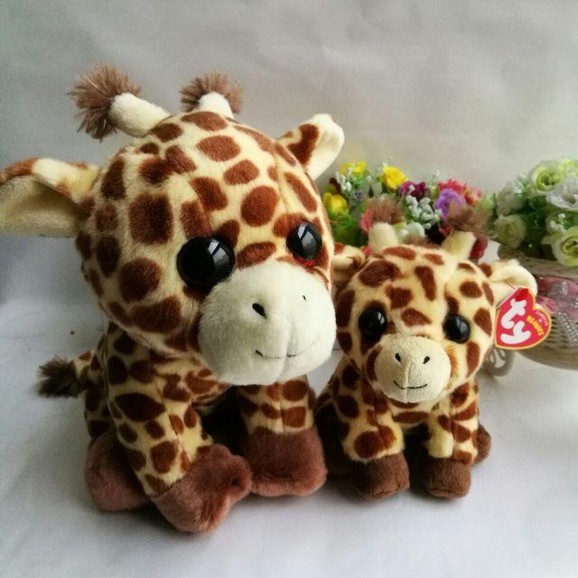 415b4a578b5 Peaches Giraffe TY BEANIE BOOS 2PCS 25CM and 15CM BIG EYES Plush Toys  Stuffed animals Soft toys desk car decorations