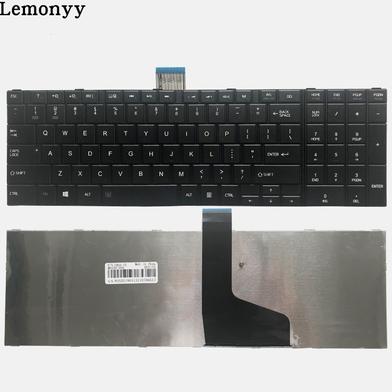 NEW US keyboard for TOSHIBA SATELLITE C850 C850D C855 C855D L850 L850D L855 L855D L870 L870D US Black laptop keyboard image