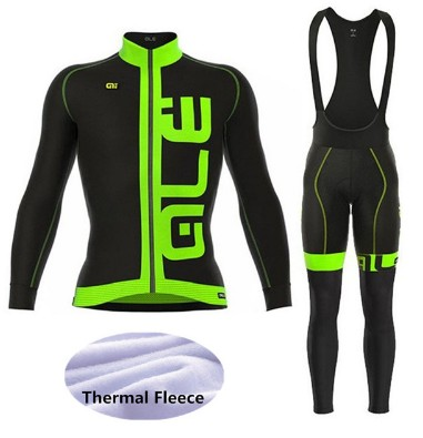 2018 Winter Thermal Fleece Pro Team Cycling Jersey Long Sleeve Bicycle Bike Clothing Ropa Ciclismo ALE Cycling Cothing -TG7H3 2017 cheji winter fleece windproof cycling jersey set ropa ciclismo team mensthermal bike bicycle long sleeve clothing s xxxl