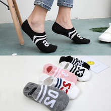 5 pairs Women Socks Slippers Boat Invisible Short Cartoon Animal Number Solid Low Cut Ankle Sports Socks Girls Cotton Cute Socks цены