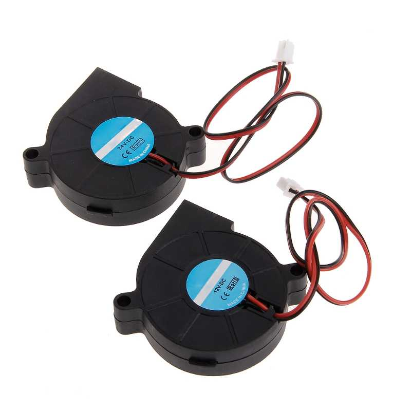 3D Printer Fan 5015 DC 50X50X15 Mm 0.23A Lengan Bantalan Blower untuk RepRap I3