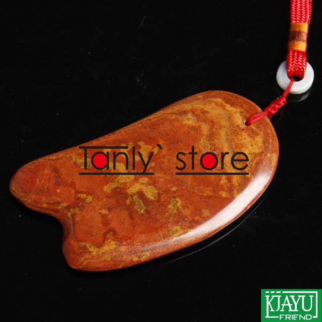 Wholesale and Retail Traditional Acupuncture Massage Tool Natural 5A red yellow Bian-stone Guasha Board 100x60x8mm Scrapping wholesale and retail traditional acupuncture massage tool natural 5a red yellow bian stone guasha board 100x60x8mm scrapping