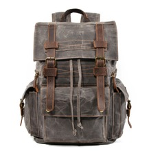 YUPINXUAN Fashion Canvas Leather Backpacks Designer Vintage Back Pack for Teenagers String Rucksacks Good Quality Laptop Daypack