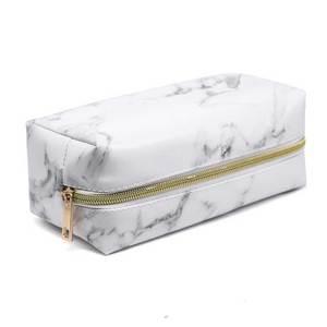 Большой Мраморный пенал, кожаная коробка для ручек, большая сумка для макияжа для девочек, подарок, полиуретановая etui, офисные школьные принадлежности для путешествий, Канцтовары, пенальти