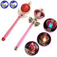 Anime Sailor Moon 20th Tsukino Usagi Varinha Vara do Fulgor de Henshin vara Espiral Coração Lua Vara Varinha Mágica Musical Modelo Menina brinquedos