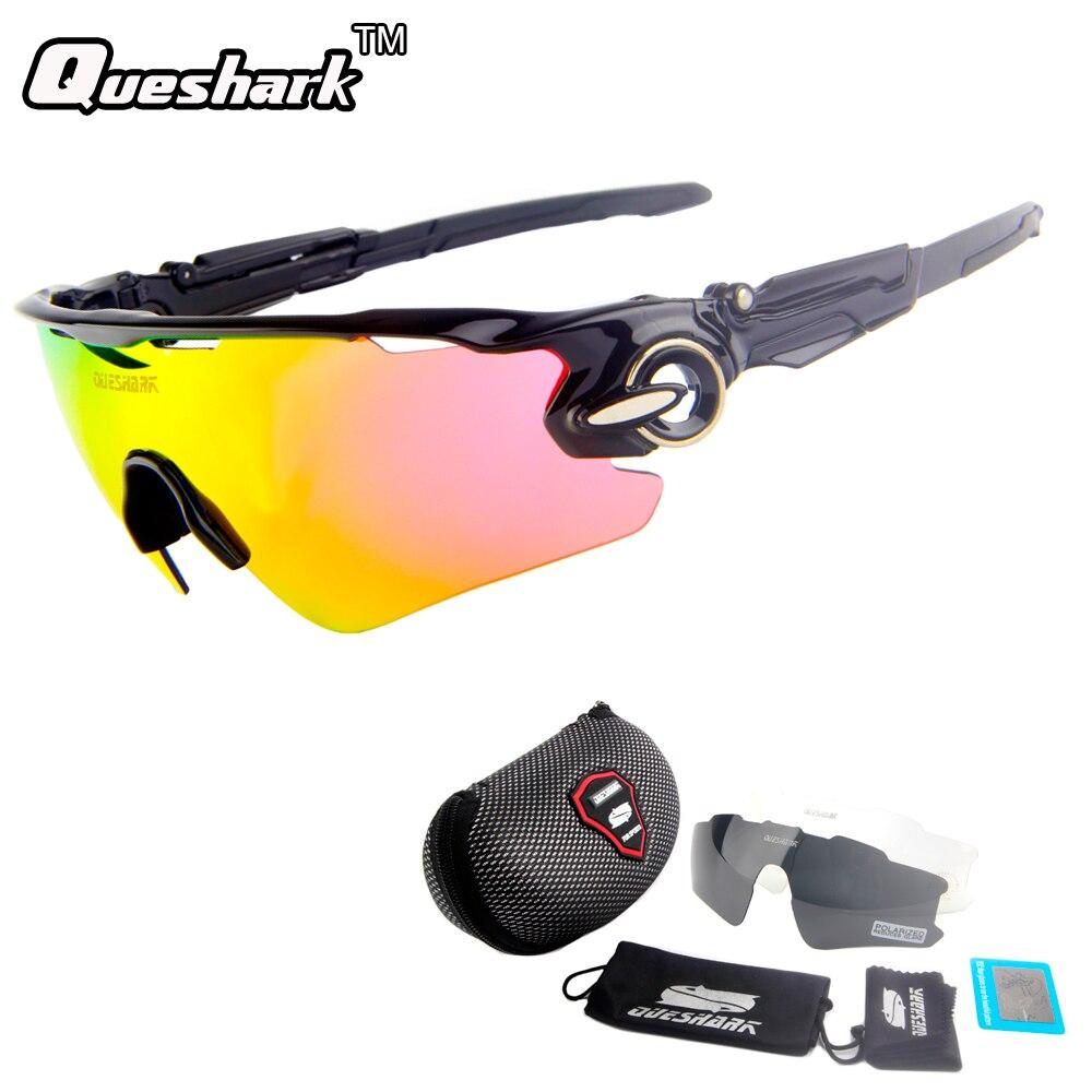 QUESHARK TR90 Cadre Polarisées UV400 Cyclisme lunettes de Soleil Lunettes  De Vélo 3 Lentille d0fdb0ad4ed9