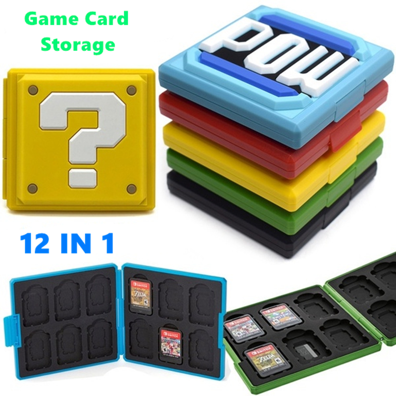 6 Color Portable Game Cards Storage Case Nintend Switch Hard Shell Box for Nintend Switch NS Accessories 12 in 1 Cards Case
