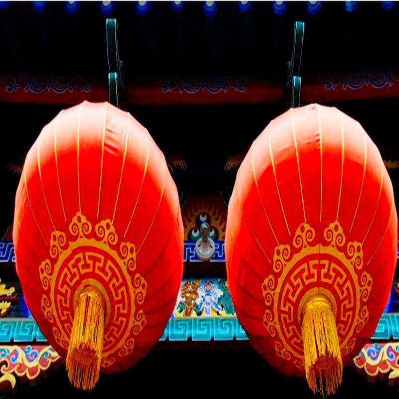 37 66 2 Pc Mi Automne Festival Lanterne Chinois Antique Rouge Lustre Chinois Printemps Festival Terrasse Décoration Restaurant Chinois In Lanternes