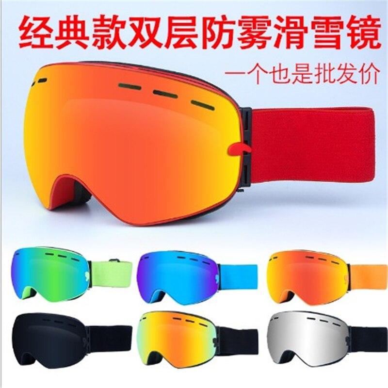 2019 New Professional Ski Snowboarding Goggles Men Antifog Gafas Motocross Skiing Glasses Snow Protection Skate Eyewear Google