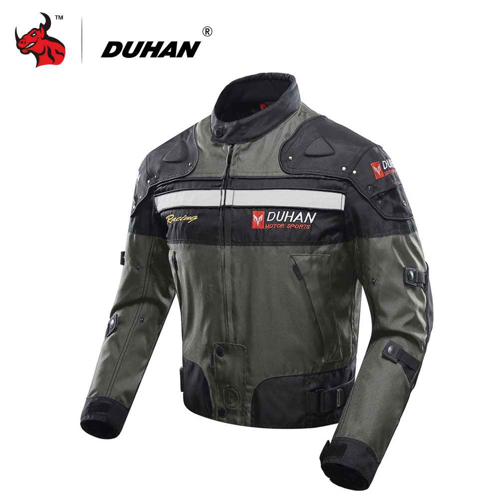 DUHAN Motorcycle Jacket Motocross Off-Road Riding Jacket Oxford Cloth Moto Jacket Protective Gear Motorbike Touring Clothing duhan oxford cloth motorcycle jacket motocross off road racing jacket men rider clothes with five pcs protector gurds