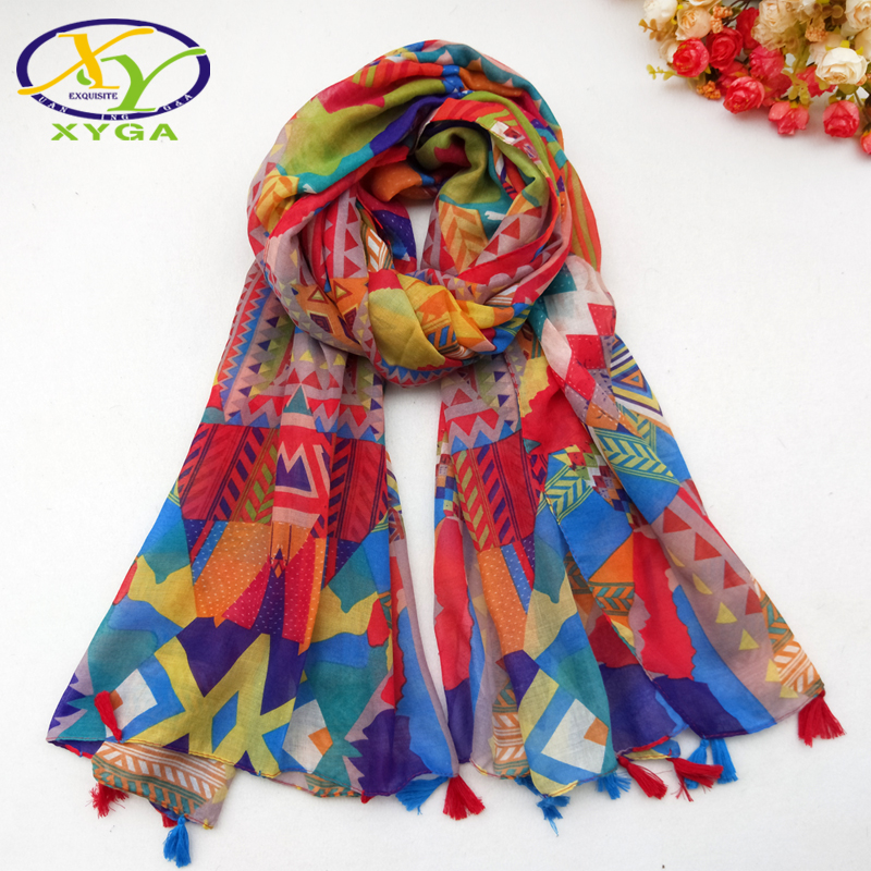 Cotton Women Long Scarf Spring Tassels Fashion Acrylic Ladies Summer Sunscreen Wraps Autumn Female Head Scarves Shawls