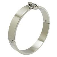Polished Stainless Steel Locking Slave Collar Neck Restraint