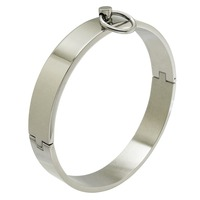 Polished Stainless Steel Locking Slave Collar Neck Restraint