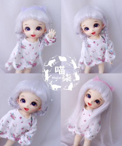 New 1/12 3-4 inch 9-10cm 1/8 4-5 inch 12cm 14cm BJD fabric fur wig Light grey For AE PukiFee lati Doll Antiskid BJD Doll Wig 1 3 1 4 1 6 1 8 1 12 bjd wigs fashion light gray fur wig bjd sd short wig for diy dollfie