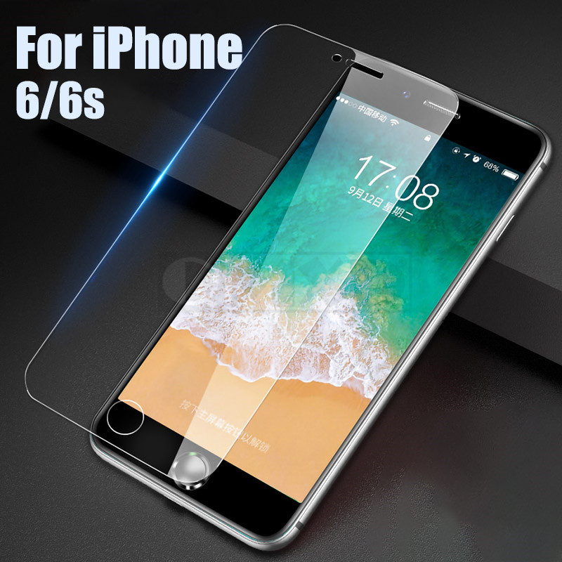 30D Protective Tempered Glass On The For iPhone 6 6s 7 8 Plus X Glass Screen Protector Full Cover Glass For iPhone XR XS MAX 5s