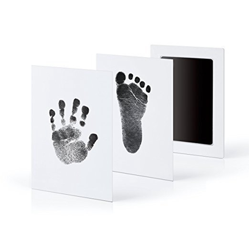 Baby Handprint Footprint Imprint Kit Baby Safety Cleaning Non-toxic Touch Stamp Souvenir Newborn Ink Pad Infant Clay Toy Gifts