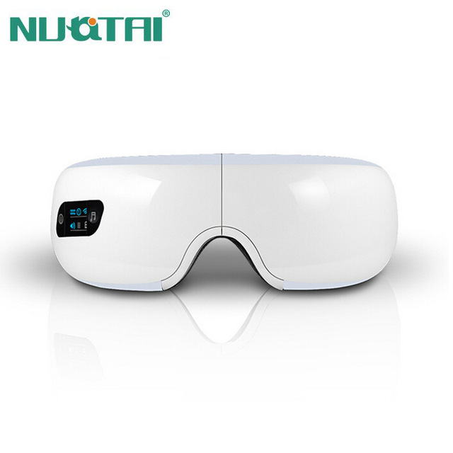 NUOTAI Electric Air pressure Eye massager with mp3.Wireless Vibration Magnetic heating therapy massage device.myopia care device