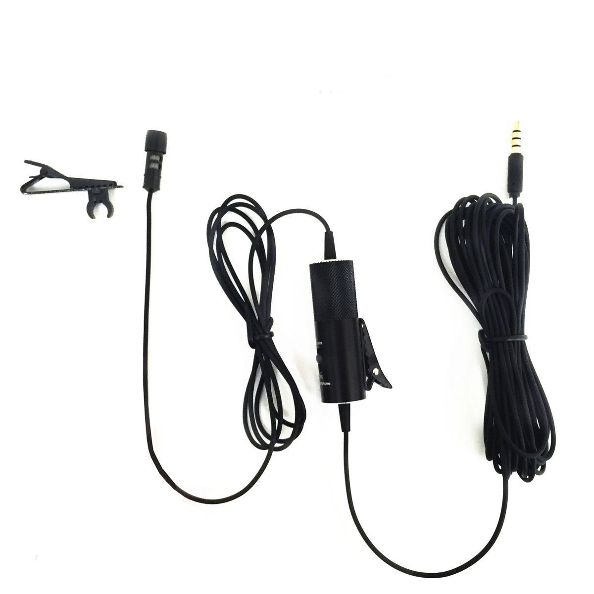 CHAUDE-Yanmai R933S Cravate Microphone Clip-sur Revers Micro À Condensateur pour Enregistrement Interview Caméra Smartphone Vidéo Conférence Bl