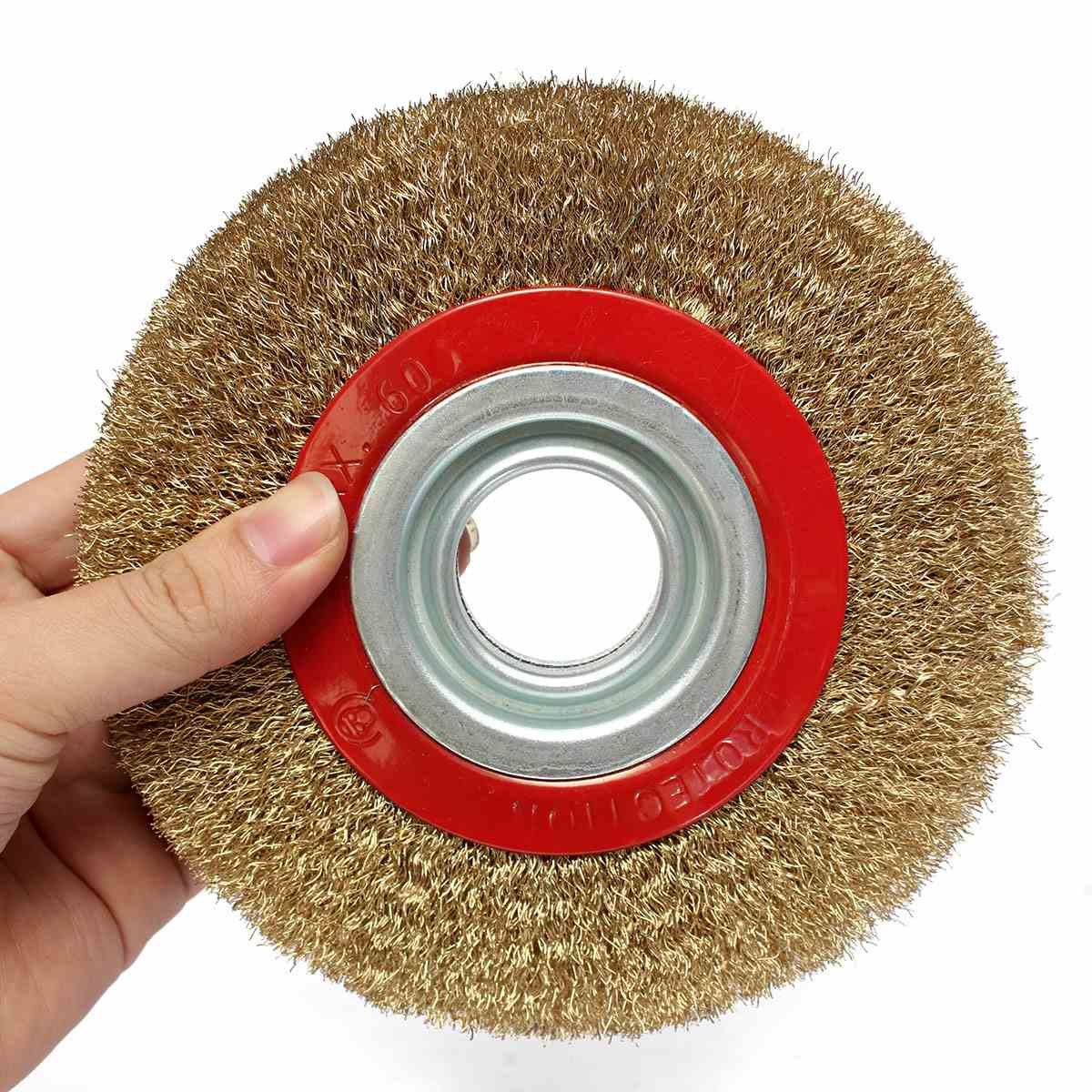 Top Selling 1PC 6 Inch 150mm Steel Flat Wire Wheel Brush with 10pcs Adaptor Rings For Bench Grinder Polish Best Quality