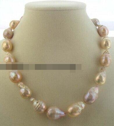 08149 freshwater pearl pink reborn keshi drop baroque necklace 17