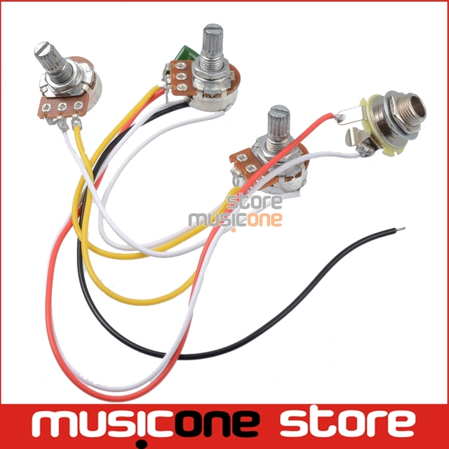 Jazz Bass Wiring Harness 2 Volume 1 Tone 047 Cap 250k Pots Set-in ...