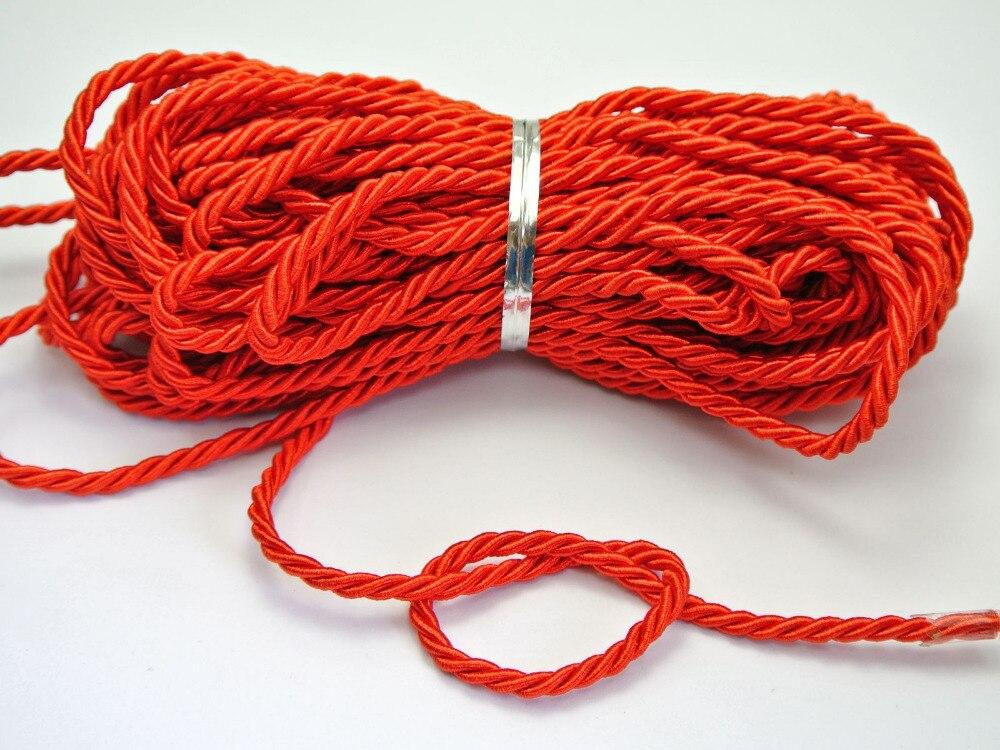 Twist Nylon Seil Schnur Schnur Schnur Seil Armband Kunstseide DIY machen 5mm