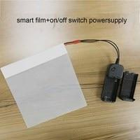 15x15cm/6x6 White PDLC Smart Tint Window Pravicy Film Smart Window Tint Electrochromic Film Switchable Glass Vinyl