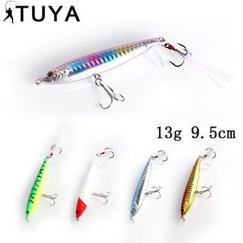 TUYA 1PC Pencil Fishing Lure top water Minnow Artificial Hard Bait Floating topwater Stickbait Popper 9.5cm 13g