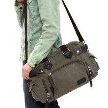 Neue Mode Koreanischen Stil männer Leinwand Umhängetasche Lässig Crossbody Umhängetasche Männlichen Reisetaschen