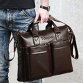 2017 Men Casual Briefcase Business Shoulder Bag Leather Messenger Bags Computer Laptop Handbag Bag Men's Travel Bags