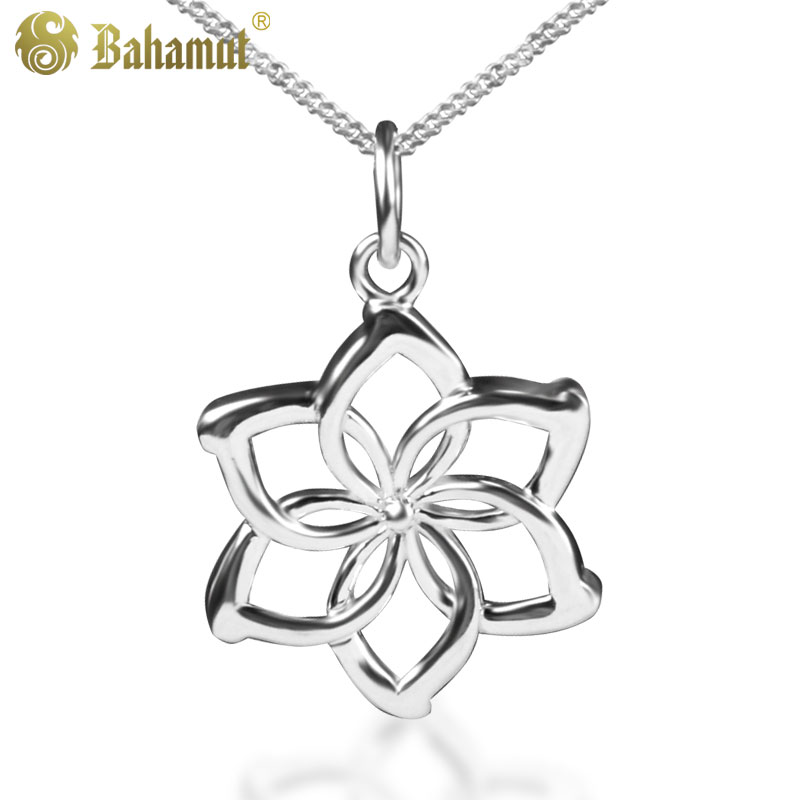 Bahamut The Hobbit sorin Thorin 925 Sterling Silver Galadriel Flower Necklace An Unexpected Journey Necklace Christmas