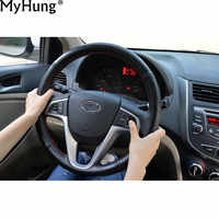 Car Steering Wheel Cover Audio And Channel Control Button For Hyundai Verna Solaris 2010 To 2017 Original Car-Styling