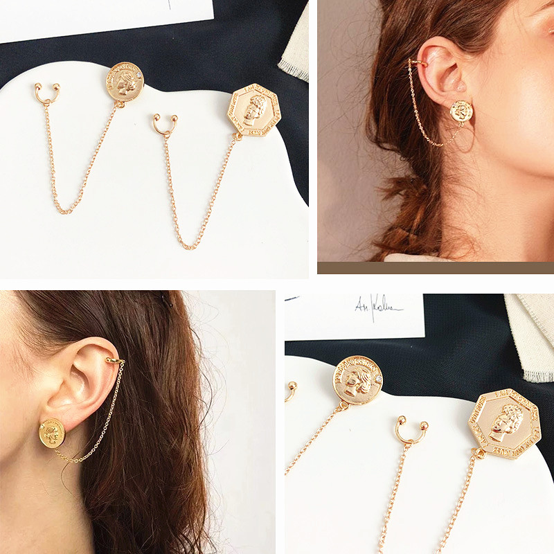 008 Retro girl jewelry earring fashion geometry Earrings For Women Geometric Wedding Party Vintage Christmas Gifts Bohemian in Stud Earrings from Jewelry Accessories