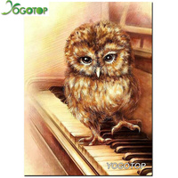 Craft 5D Diamond Painting Cross Stitch Resin Mosaic Whole Crystle Picture Diamond Embroidery Needlework Piano Owl