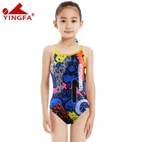 Yingfa kids swimwear one piece Girls swimsuits tight children bathing suits racing competition maillot de bain professional suit