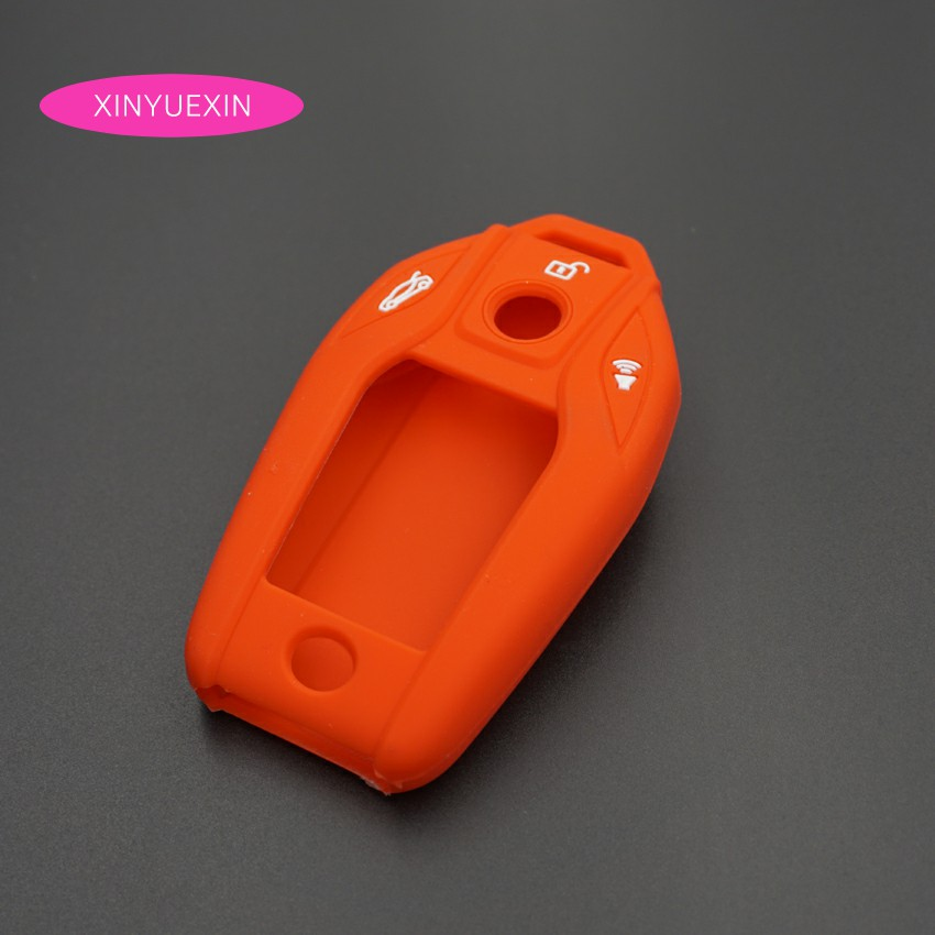 Xinyuexin Silicone Rubber Car Key Case Fob Cover For Bmw I8 750li