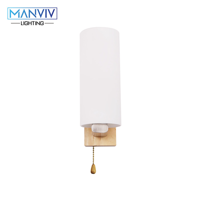 Modern Nordic Wall Lamp Wood+Glass Mounted Light E27 LED Indoor Lighting For Living Room Bedroom Corridor Oak Wooden Wall Lamp free shipping nordic wall lamp living room bedroom indoor wall lamp modern home lighting wall mounted e14 wall lighting