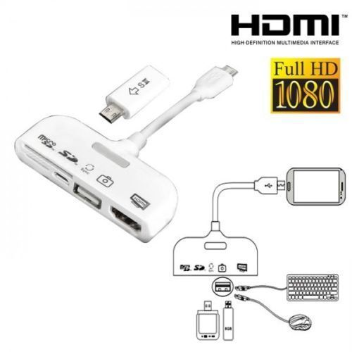 5 in 1 MHL To HDMI HDTV Adapter Connection Kit and OTG