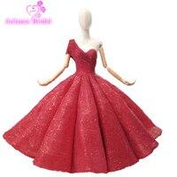 Бальное платье красного цвета Blings платья для выпускного вечера Праздничное платье Abiye пышные вечерние платье 2018 Couture Абаи Ближний Восток Дл