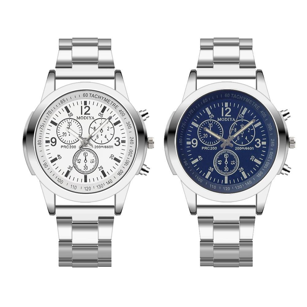 Saatleri Fashion 2019 Stainless Steel Sport Quartz Hour Wrist Analog Watch Wristwatch Clock Gift Men Outdoor  Retro Design  #15