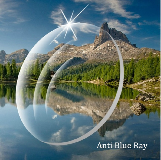 1.61 Índice de Color Claro Lentes de Prescripción de Lentes de Ojo Radiación Anti Blue Ray