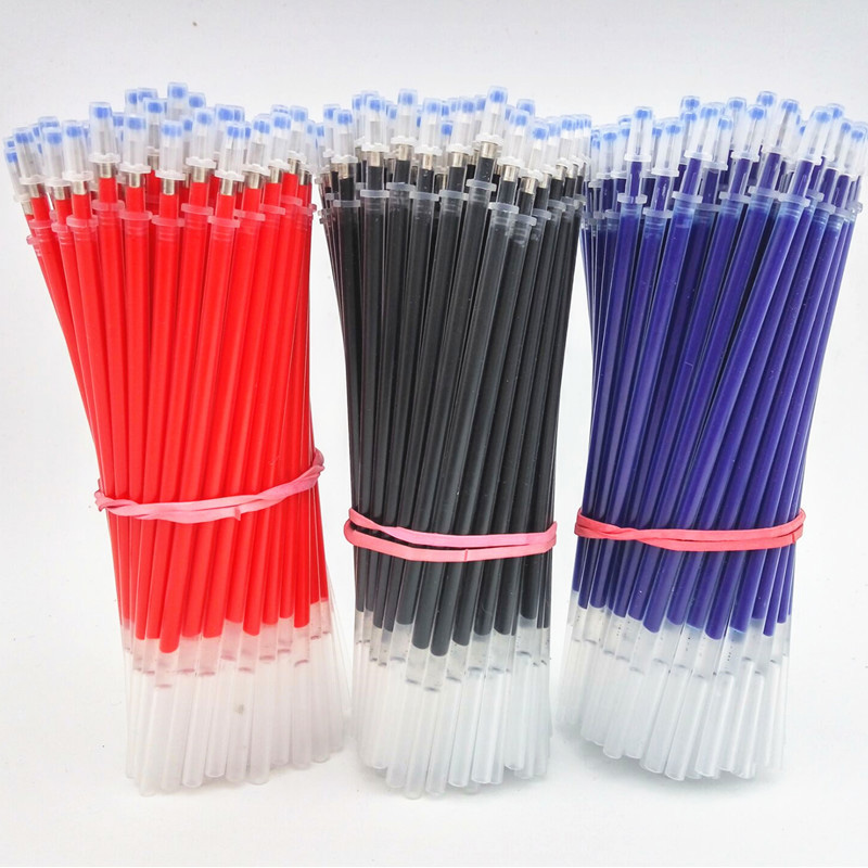 20PCS/set Of Gel Pen Refills 0.5mm Black Blue Red Ink Refill School Office Stationery Writing Supplies