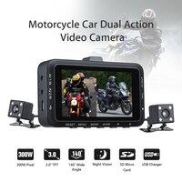 STK DV168 Dual Lens Motorcycle Car Mounted Biker Action Video Camera DVR Front Back 3 0