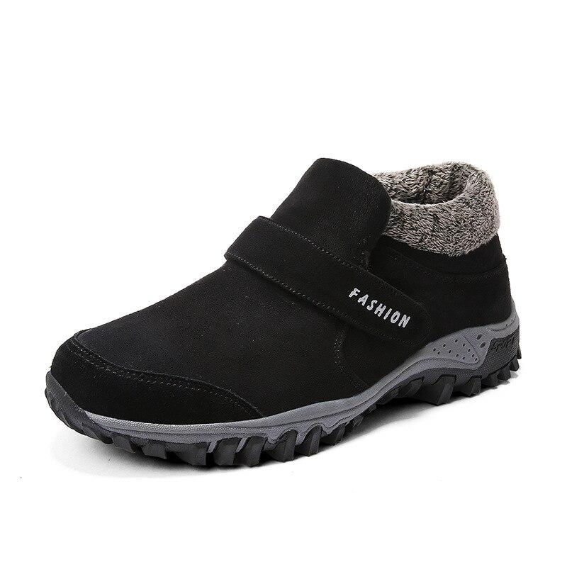 Botas En Noir Hiver Chaud Neige Bottes D'hiver Cuir Cheville Chaussures Tennis Hommes khaki 47 Travail Sneakers Mâle Mode marron Casual Daim De PIT6ww