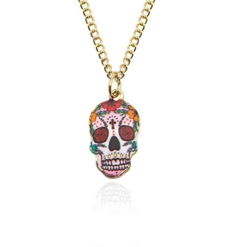 Punk Jewelry Fashion Gift Accessories Creativity Dark Women Wholesale Necklace Men Simple Cheap Skull Necklace Vintage Alloy