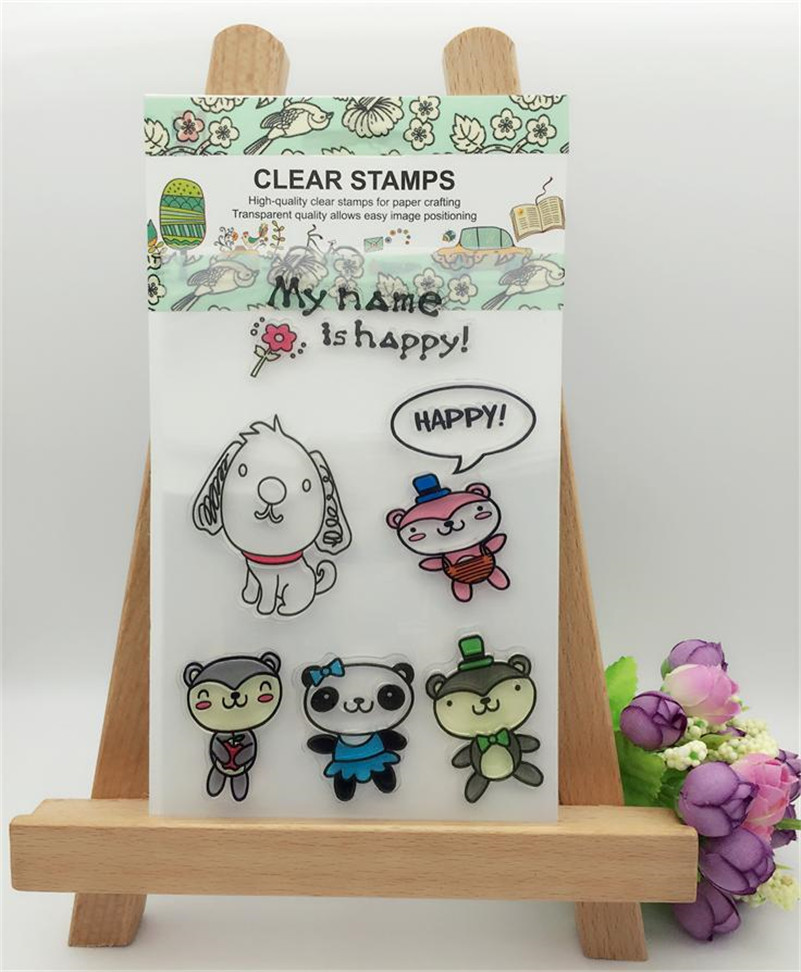 Transparent Stamp Aboutmy name is happy  Clear Stamp For DIY Scrapbooking Photo Album christmas gift and wedding gift CL-279 my christmas cd