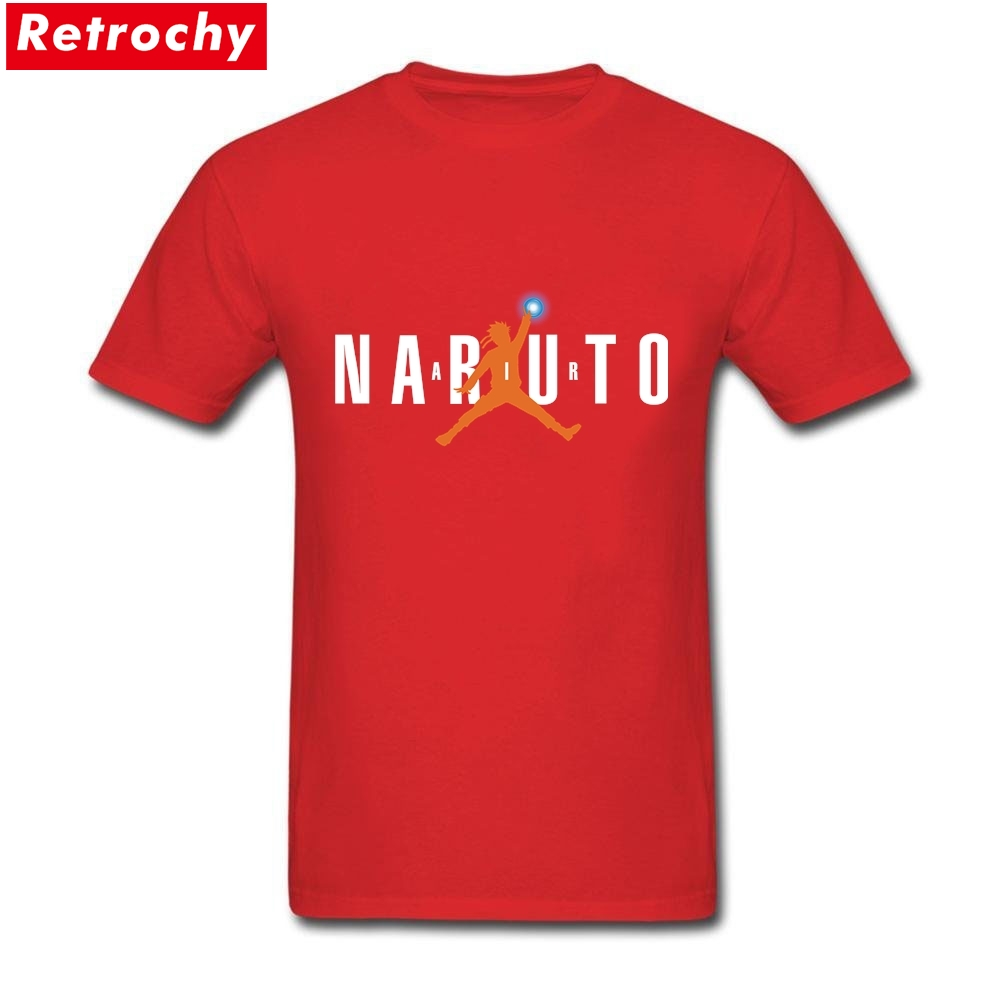 2017 Cool Designer Air Naruto T Shirts Men Round Neck Short Sleeve