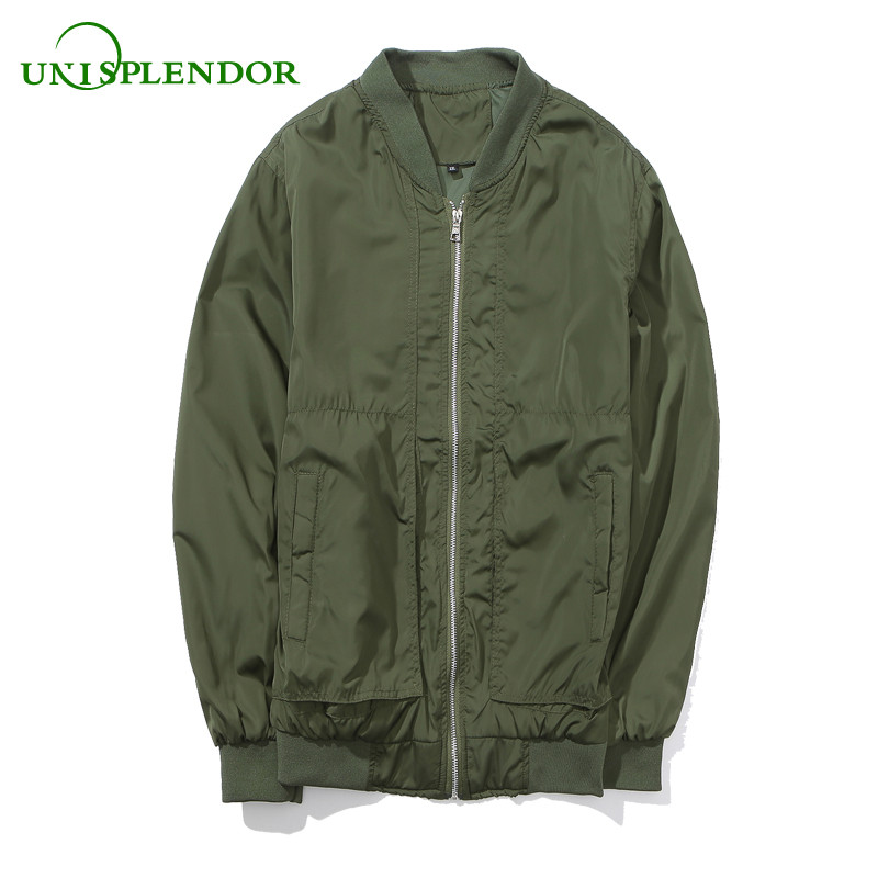 Unisplendor 2018 New Brand Men's Jackets Spring Autumn Man Solid Overcoats Male Casual Slim Pilot Tops Boy Bomber Jacket YY27